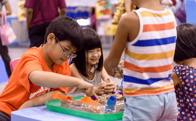 Kids can engage in different activities at SmartKids Asia 2018