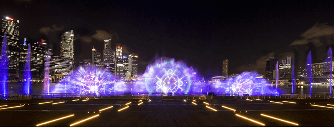 New Marina Bay Sands Light Show, Spectra