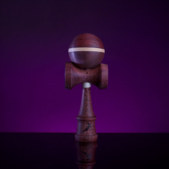 Japan – Purpleheart with Maple Stripe Kendama