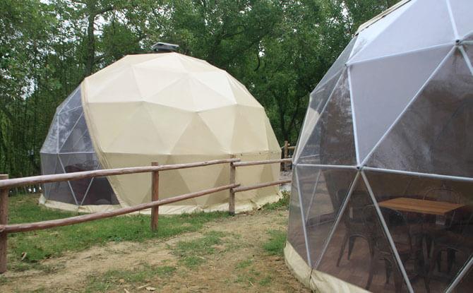 Star Gazing Geodesic Domes, Sai Yuen Farm in Hong Kong