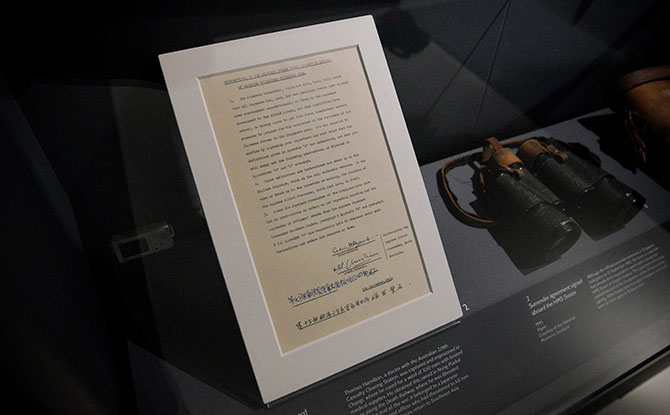 Little Stories: The Surrender Agreement Which Ended The Japanese Occupation In Singapore Goes On Display At The Changi Chapel and Museum