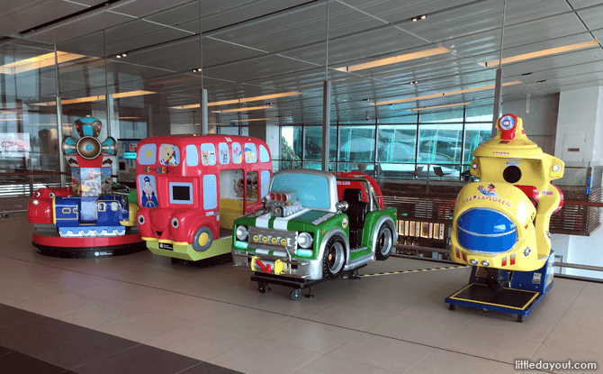 Coin-operated rides at Changi Airport T1 Viewing Gallery