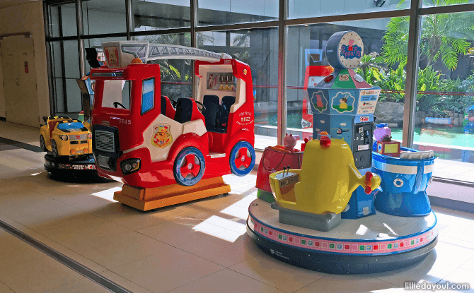 Kiddie Rides at Changi Airport T1 Public Area