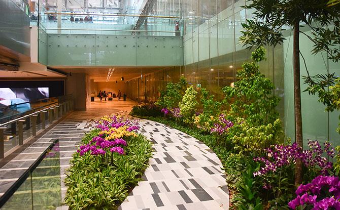 art-themed indoor garden