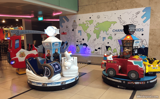 Kiddie rides at Changi Airport T3 B2
