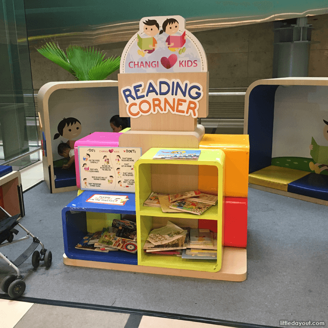 Reading corner at Changi Airport T3, Basement 2