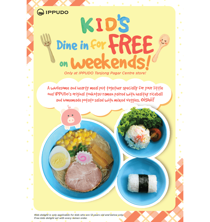 Kids Dine For Free On Weekends At IPPUDO Tanjong Pagar Centre
