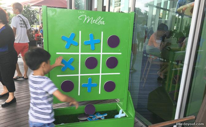 Tic Tac Toe Board, Cafe Melba Mediapolis