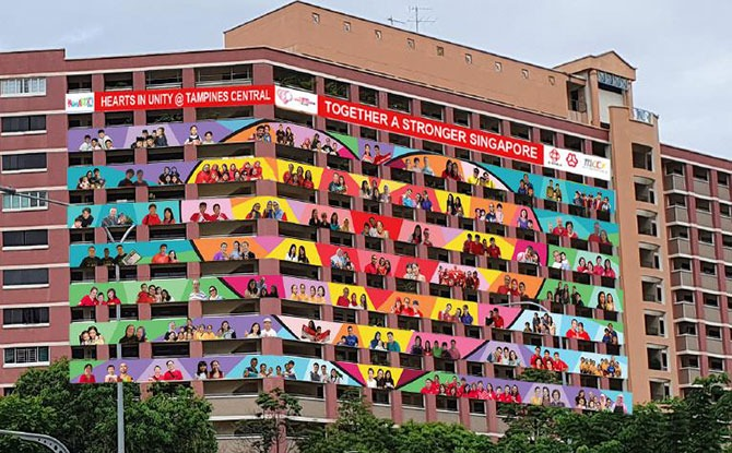 HeARTs in Unity: 11 HDB Façade Art Installations Share The Love This National Day