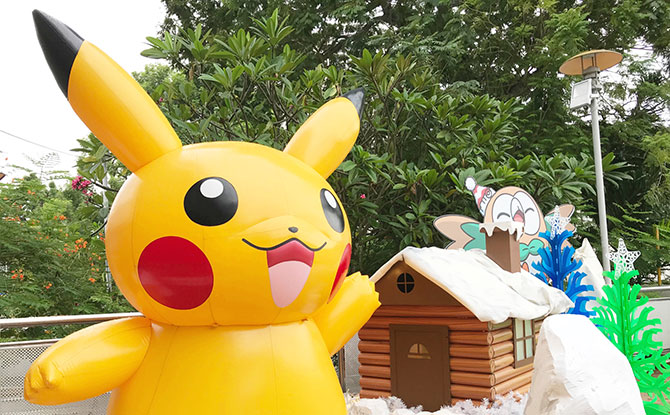 Pokemon decorations at Thomson Plaza