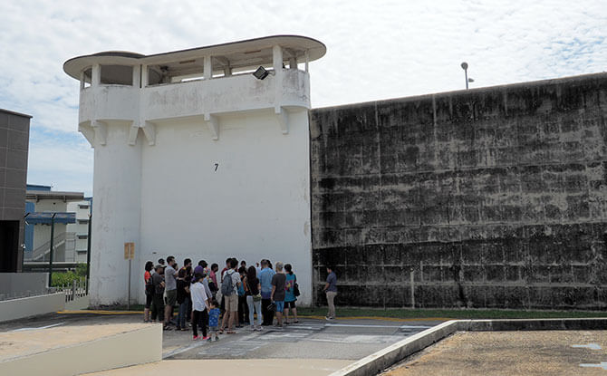 Tour of Changi Prison Entrance Gate Wall - Battle for Singapore 2020