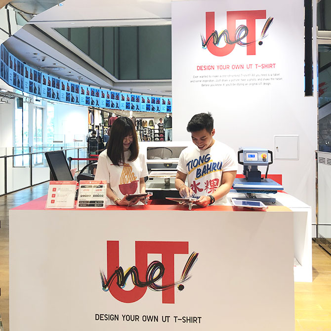 UNIQLO UTme! booth is located at level 3 of the Orchard Central Global Flagship Store Singapore