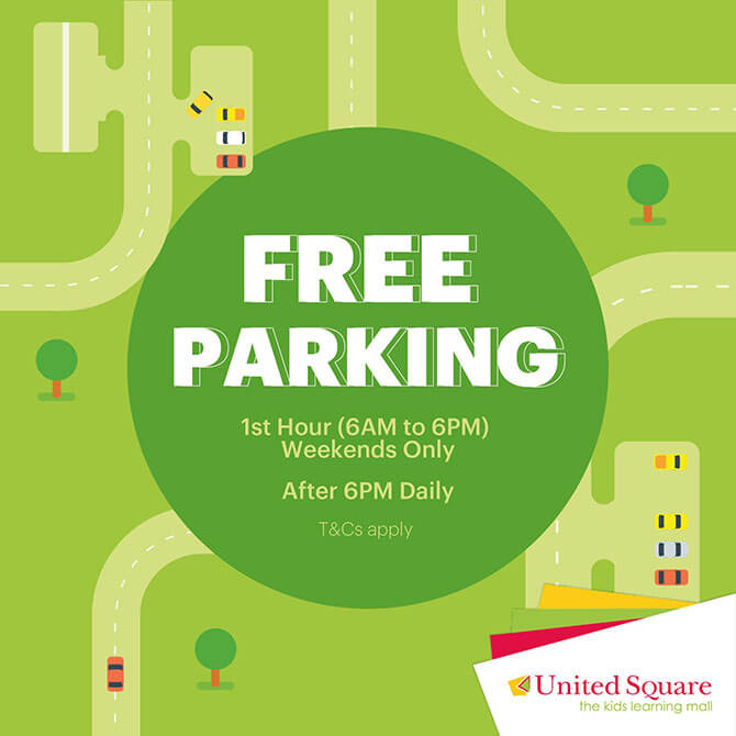 Free parking at United Square