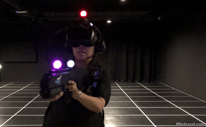 VR Headset and Gun at Zero Latency