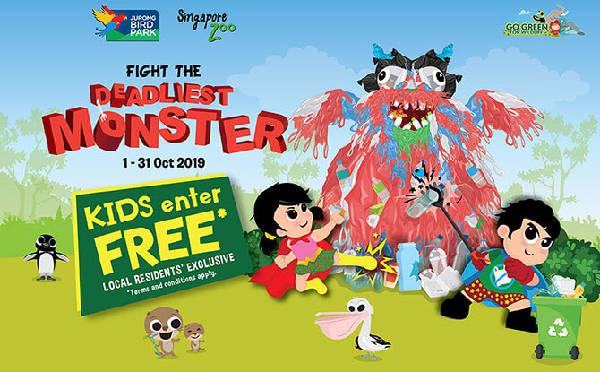 Free entry to Singapore Zoo for kids in October 2019
