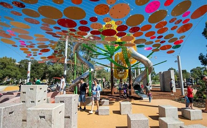 Wellington Square Playground in Perth WA