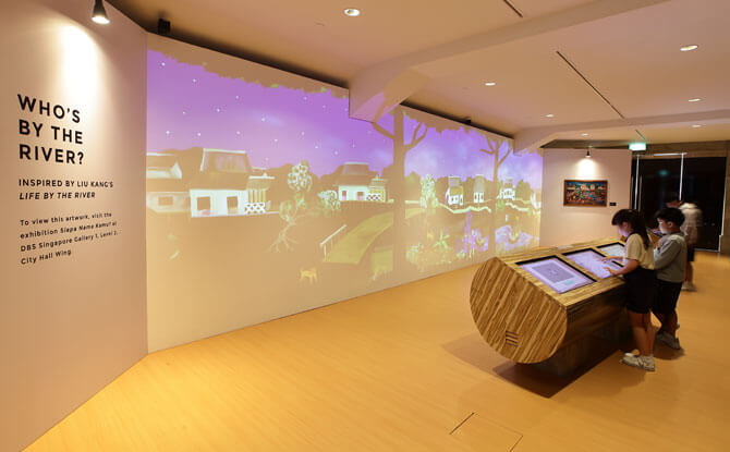 Interactive Exhibit, Who's by the River, City Hall Foyer, National Gallery Singapore