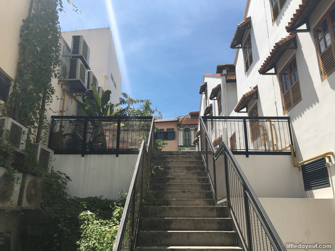Picturesque stairway at Ann Siang Hill