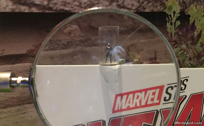 Ant-Man at the Marvel Exhibition in Singapore