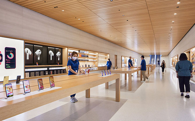 Inside Apple Floating Sphere