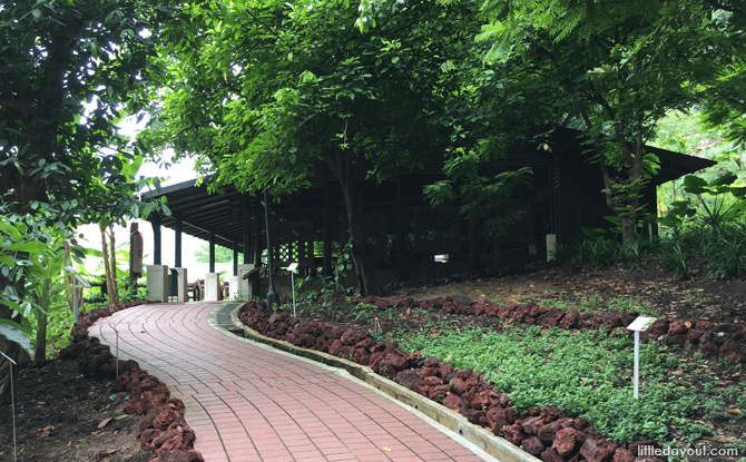 Walkway leading to The Archeological Dig