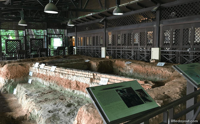 Excavation site at Fort Canning