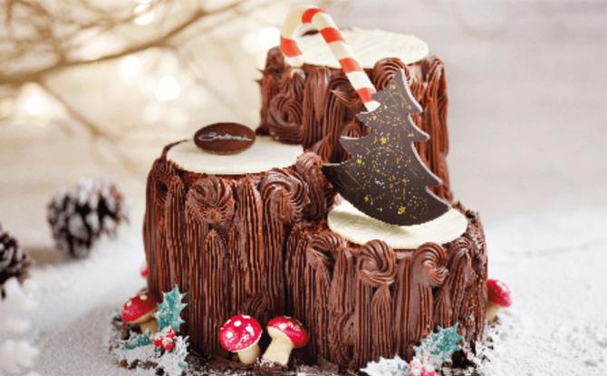 Bakerzin's Triplette Chocolat Cake Log