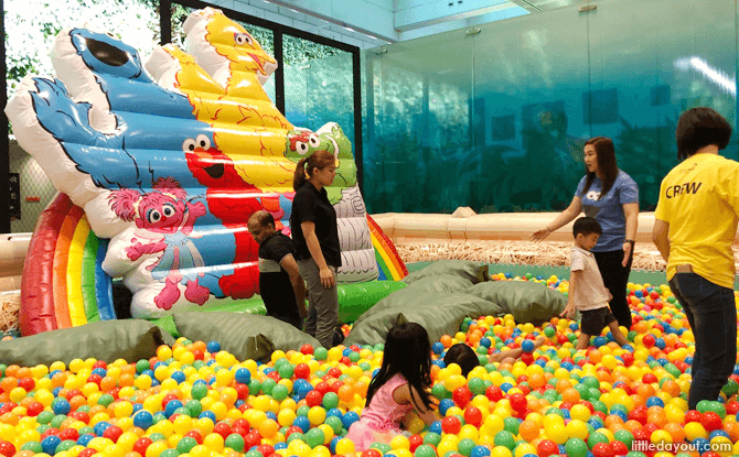 Sesame Street inflatable playground