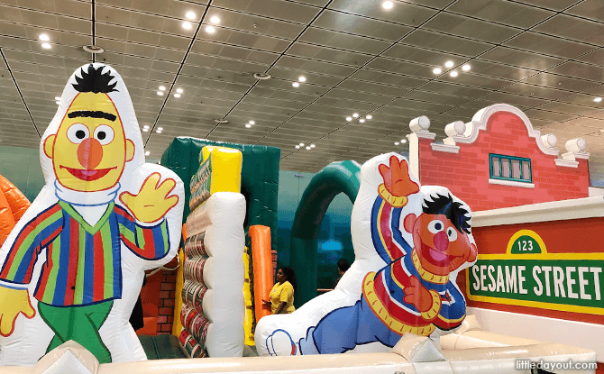 Changi Airport's Sesame Street Inflatable Playground