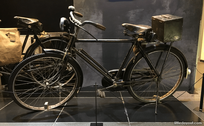 These bicycles are a reminder of how the invading army managed to conquer Malaya and Singapore in just over two months.