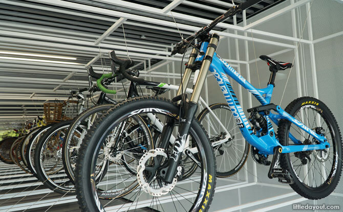 Bike in the cabinet