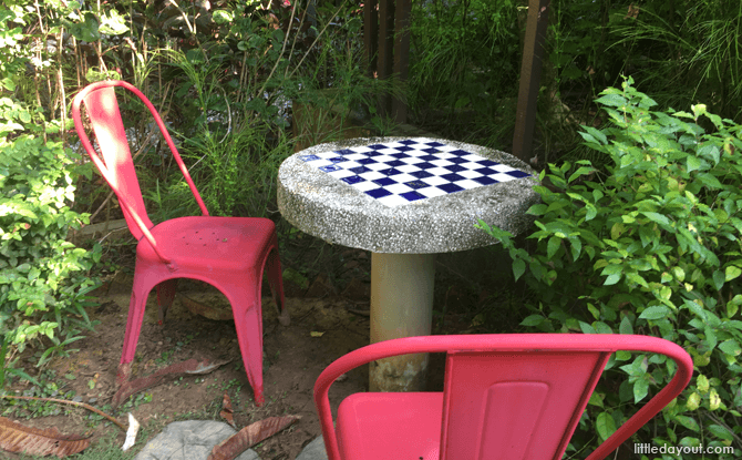 Chess Table at Talk Bird, Sing Song