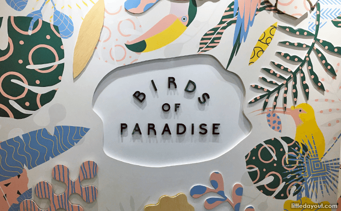 Birds of Paradise Gelato Boutique Feature Wall
