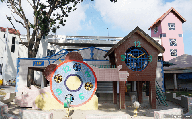 Alarm clock and clock tower in Bishan