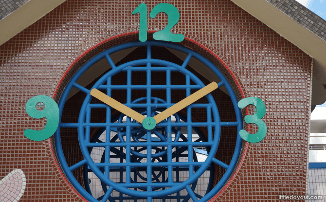 Clock face at Bishan Clock Playground