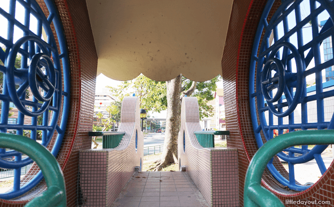 Inside the clock playground at Bishan