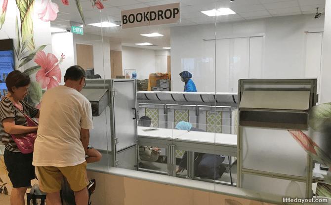 Bedok Library's Bookdrop