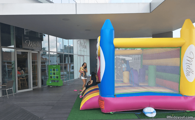 Bouncy Castle, Cafe Melba Mediapolis