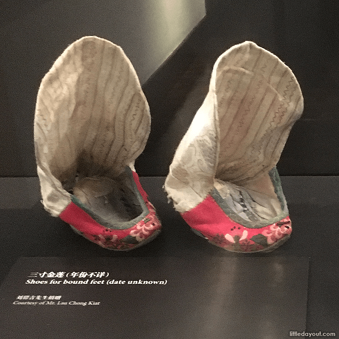 Shoes for bound feet - one of the practices dispensed with after the fall of the Qing Dynasty