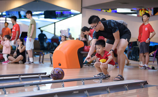 Family Bowling Activity