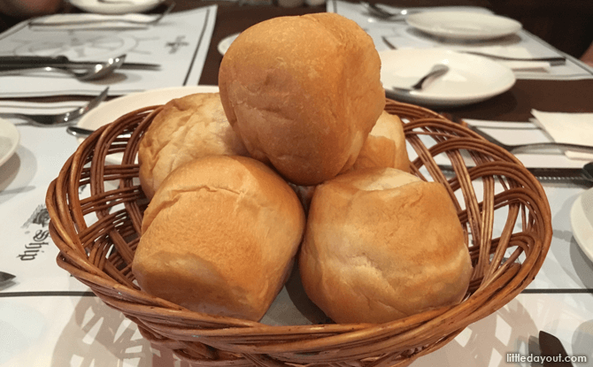 Bread rolls at The Ship