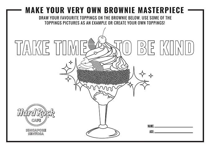 Hard Rock Café Singapore's Brownie Colouring Contest