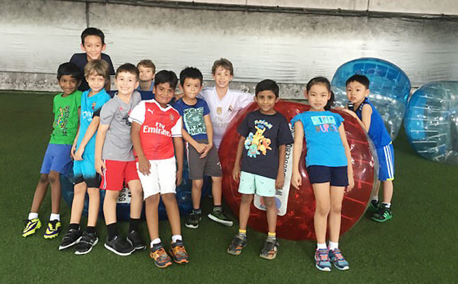 Have a bubble soccer party organised by The Fun Empire