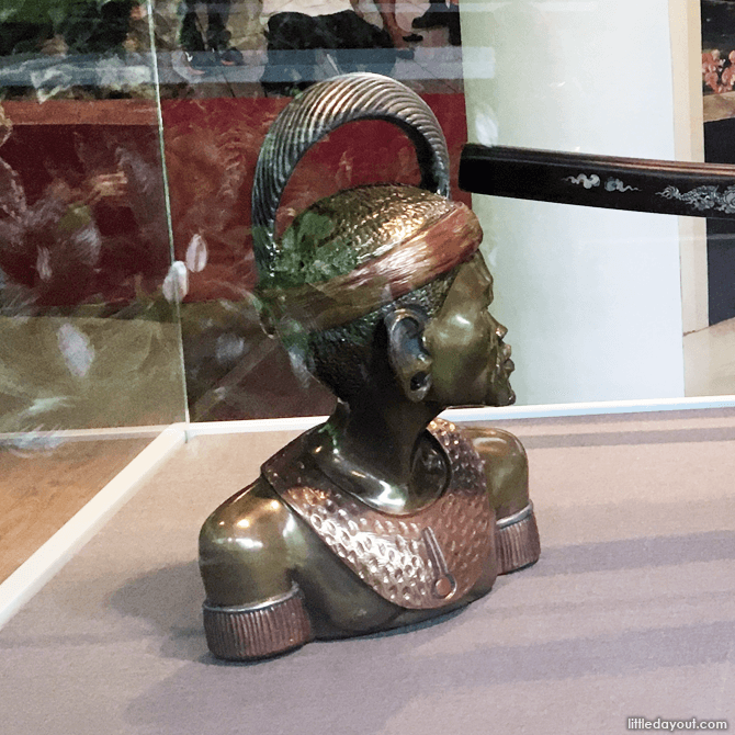 State gift of an African warrior presented by late Nelson Mandela to the late Ong Teng Cheong
