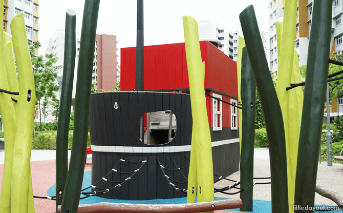 Double-decker ship playground in Canberra