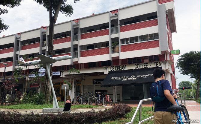 Arriving at Changi Village