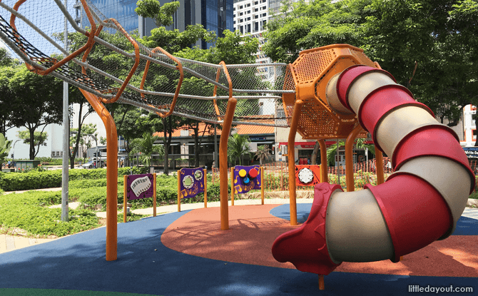 Slide at the City Square Mall Elevated Playground