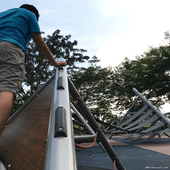 Climbing grips at Marina Bay Playground