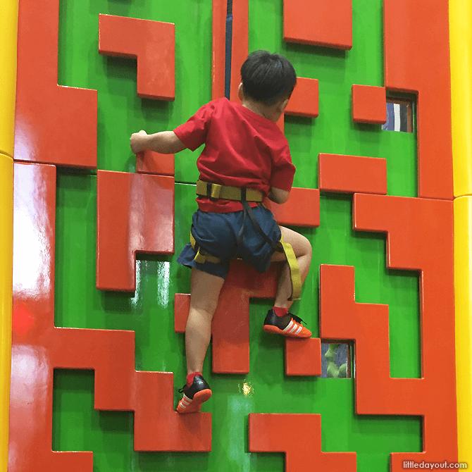 Climbing at Clip 'n Climb