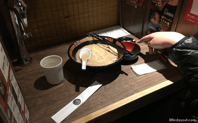 Ichiran Ramen in Tokyo